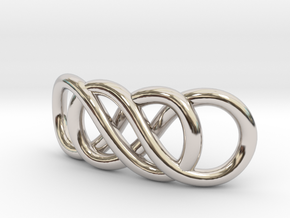 Double Infinity in Rhodium Plated Brass