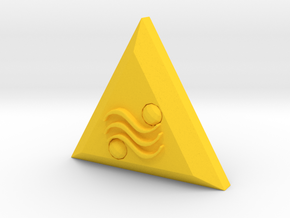 The Triforce Of Power in Yellow Processed Versatile Plastic