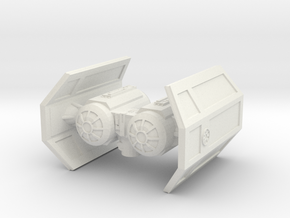 Tie Shuttle for Casual X-wing in White Natural Versatile Plastic
