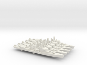 T47 Class ASW Destroyer (1968) x 5, 1/1800 in White Natural Versatile Plastic