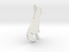 French Bulldog in White Natural Versatile Plastic