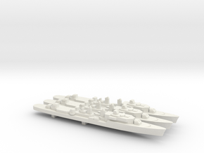 T47 Class Command Destroyer (1962) x 3, 1/1800 in White Natural Versatile Plastic