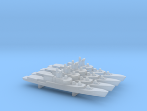ITS Bergamini-Class Frigate (1961) x 4, 1/2400 in Frosted Ultra Detail