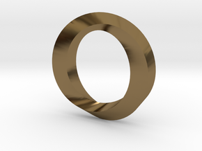 Impossible Loop Pendant in Polished Bronze