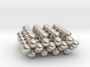 Square Diamond Pendant C97 in Rhodium Plated Brass