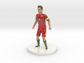 Portuguese Football Player in Glossy Full Color Sandstone