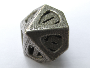 Thoroughly Modern Die10 in Polished Bronzed Silver Steel