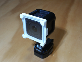 Clip-on GoPro Session Lens Protector Mount in White Natural Versatile Plastic