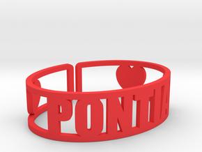 Pontiac Cuff in Red Processed Versatile Plastic