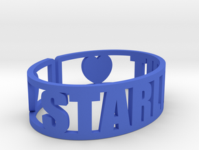 Starlight Cuff in Blue Processed Versatile Plastic