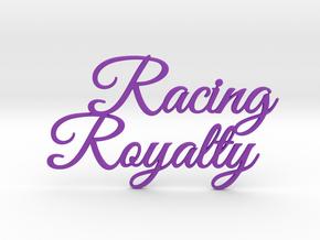 Racing Royalty in Purple Processed Versatile Plastic