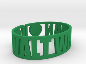 Walt Whitman Cuff in Green Strong & Flexible Polished