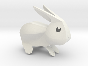 Little Bunny - V1 in White Natural Versatile Plastic