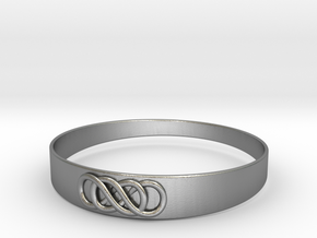 Double Infinity Bracelet ver.2 51mm inside in Natural Silver