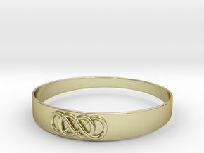 Double Infinity Bracelet ver.2 51mm inside in 18k Gold