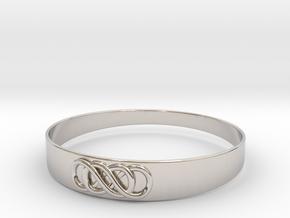 Double Infinity Bracelet ver.2 51mm inside in Platinum