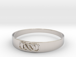 Double Infinity Bracelet ver.2 51mm inside in Rhodium Plated Brass