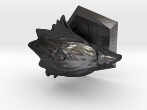 123DDesignDesktop in Polished and Bronzed Black Steel