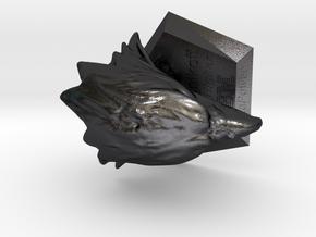 123DDesignDesktop in Polished Grey Steel