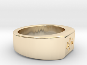 Ø0.707 inch/Ø17.97 mm The Ring of Justice Model B in 14k Gold Plated