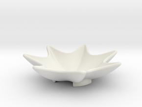 Key Dish in White Natural Versatile Plastic