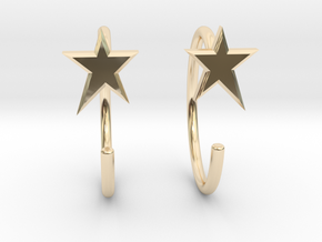 StarMiniHoops in 14K Yellow Gold