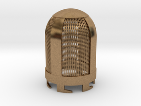 Top Part For Handheld Microphone Adapter in Natural Brass
