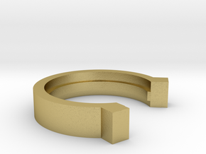 3i Scope Retract Prevention Ring in Natural Brass