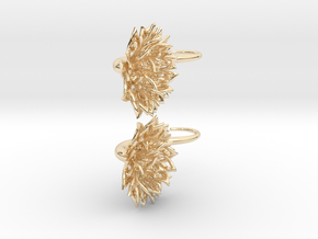 Plugs / gauges/ The Chrysanthemums 4 g (5 mm) in 14k Gold Plated Brass