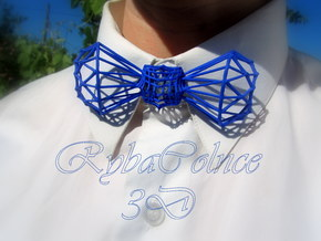 Bow tie / Tie Diamond Butterfly in Blue Processed Versatile Plastic