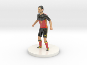 Belgian Football Player in Glossy Full Color Sandstone
