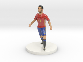 Spanish Football Player in Glossy Full Color Sandstone