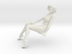 1/18 Sit Lady-013 in White Natural Versatile Plastic