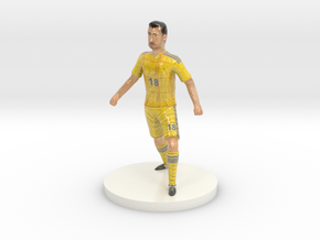 Ukrainian Football Player in Glossy Full Color Sandstone