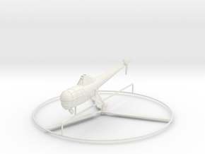 1/144 Sikorsky R-5 (H-5) in White Natural Versatile Plastic