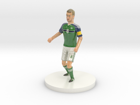 Northern Irish Football Player in Glossy Full Color Sandstone