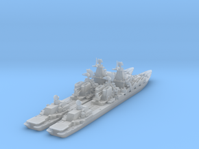 1/1250 Slava Soviet Missile Cruiser x 2 in Frosted Ultra Detail