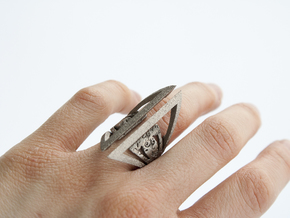 Gothic Outer Ring in Polished Nickel Steel