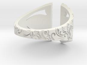 Gothic Inner Ring in White Natural Versatile Plastic