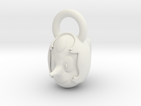 Steven Universe Pearl charm in White Natural Versatile Plastic