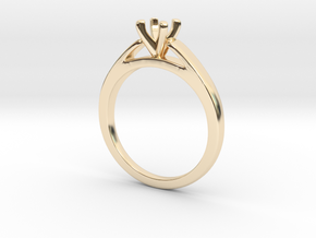 classic 4 prong in 14K Yellow Gold