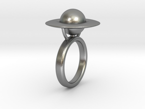 Saturn Ring (size 6) in Natural Silver
