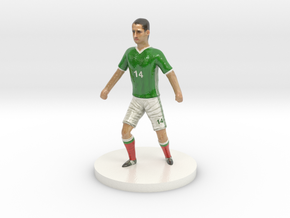Mexican Football Player in Glossy Full Color Sandstone