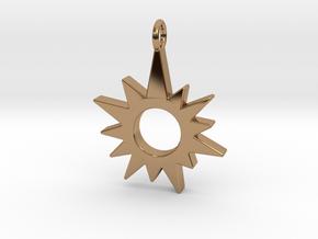 Sunburst Pendant in Polished Brass