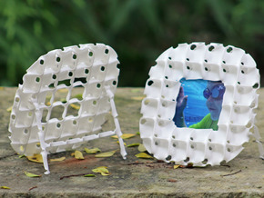 Batwing Frame in White Natural Versatile Plastic