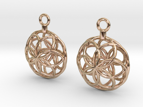 Rosette Earrings in 14k Rose Gold Plated