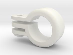 GoPro Barrel Mount in White Natural Versatile Plastic