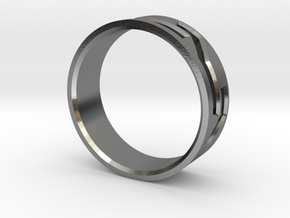 Mosaic Ring in Polished Silver