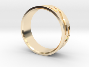Mosaic Ring in 14k Gold Plated Brass