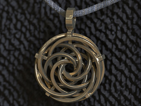 Vortex Pendant III (Precious Metal Release) in 14K Yellow Gold